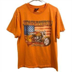 Harley Davidson Gettysburg, PA Shirt Orange Size L